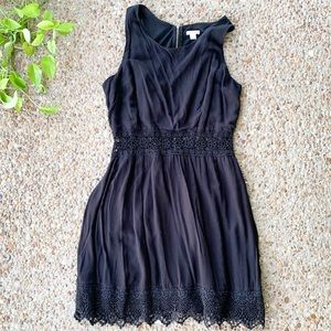 Xhilaration Black Crochet Embroidered Sun Dress